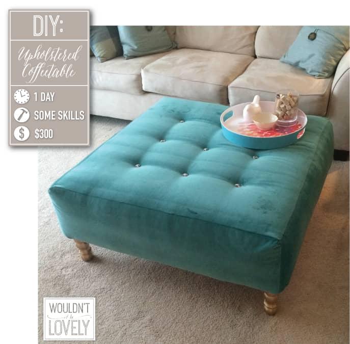 Fully upholstered ottoman