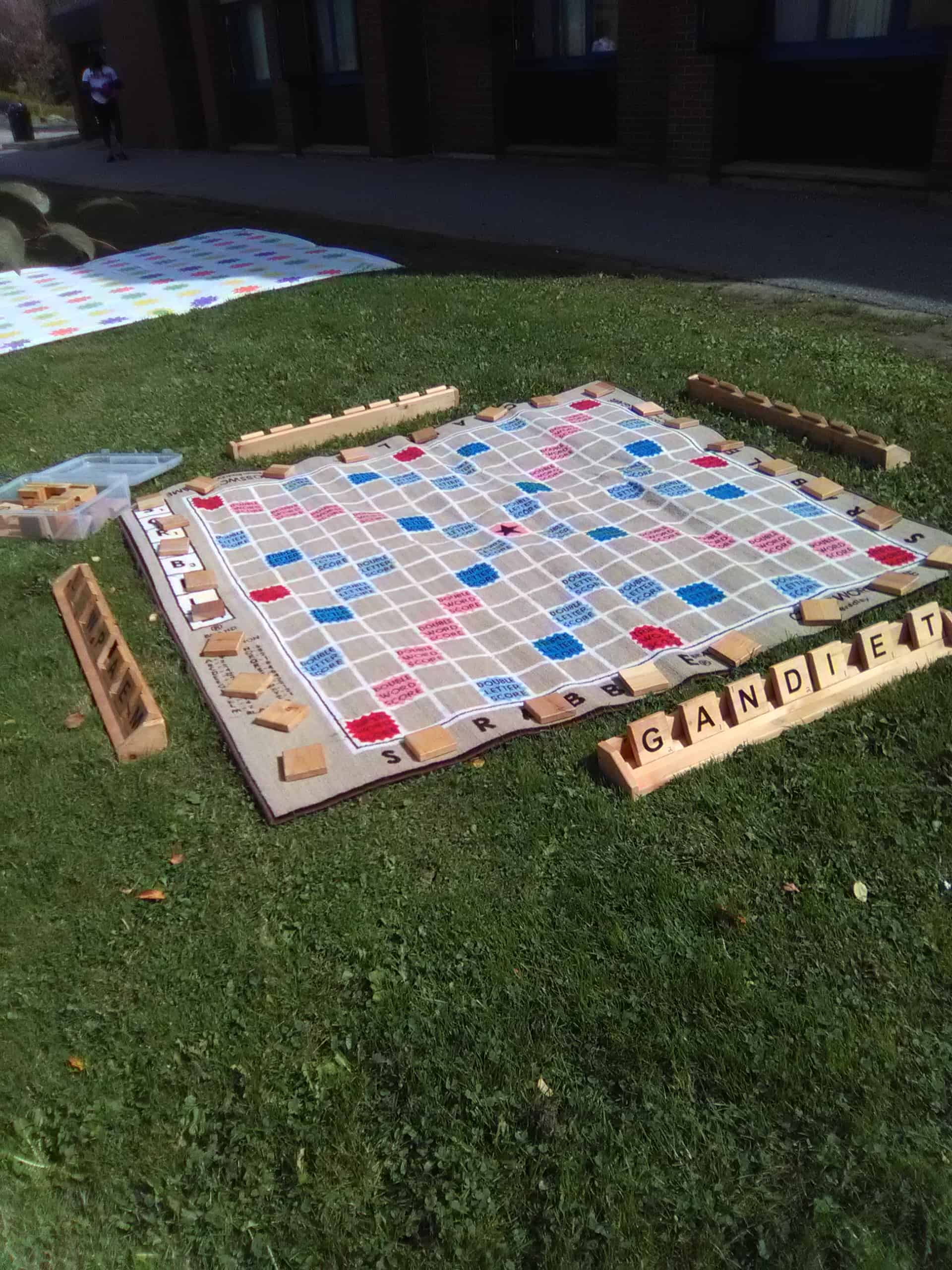 Giant backyard Scrabble