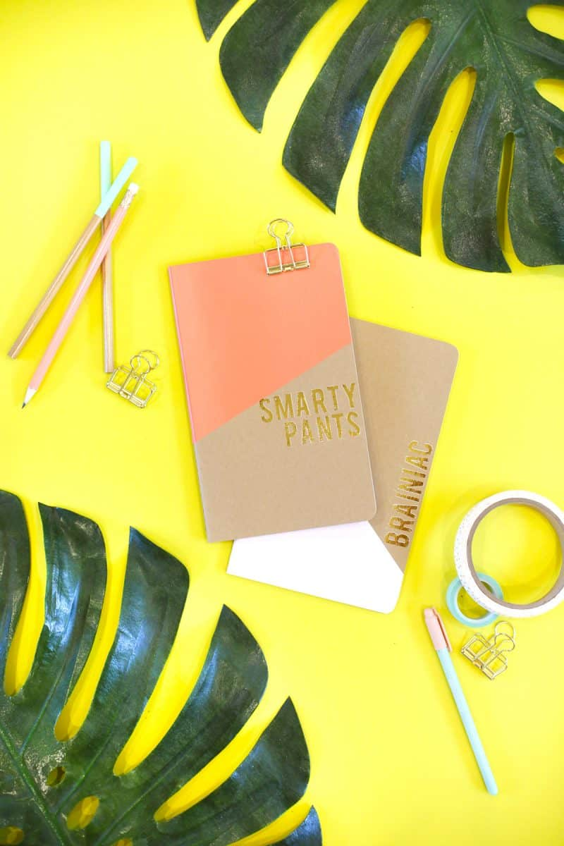Gold foil quote notebooks