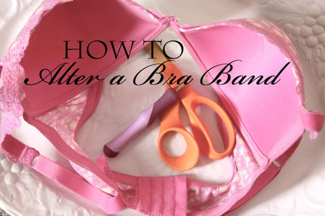 How to alter a bra band