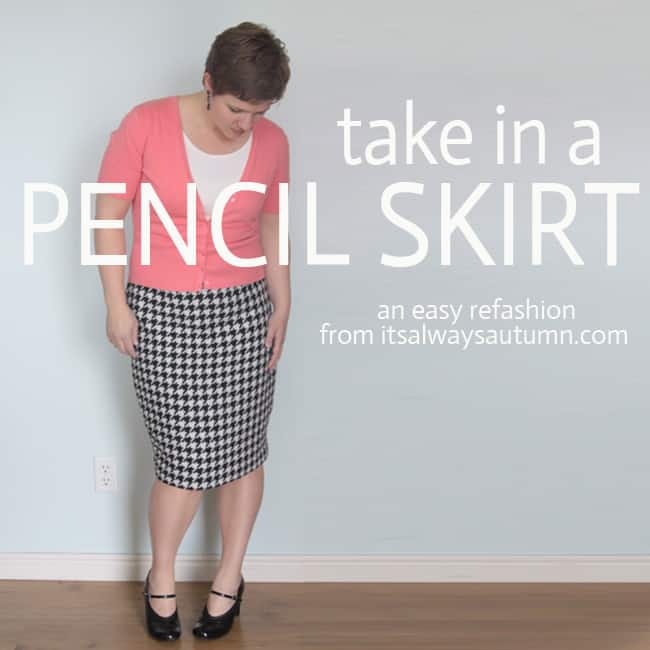How to take in a pecil skirt