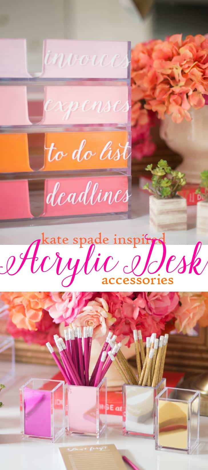 Kate Space inspired acrylic desk accessories