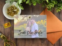Layered vellum photo save the date 200x150 Time to Get Ready for the Big Day: 15 Best DIY Save the Date Ideas