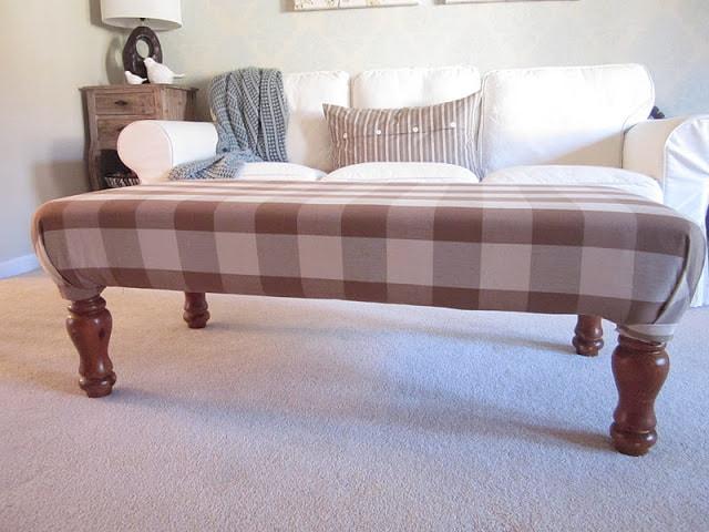 Longer bench ottoman