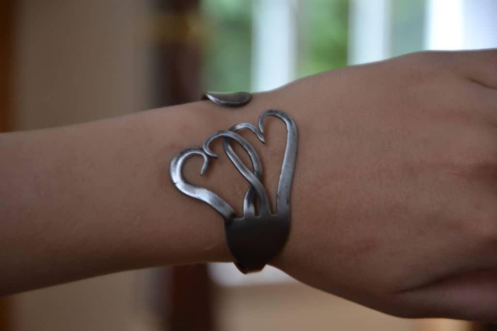 Old fork bracelet