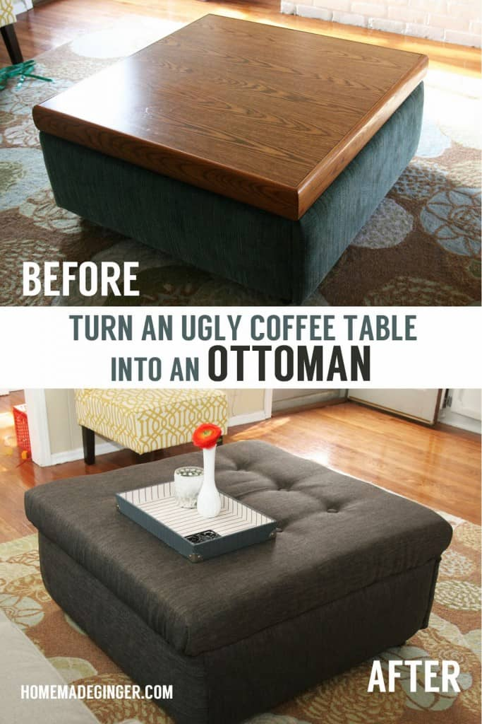 Opening storage ottoman