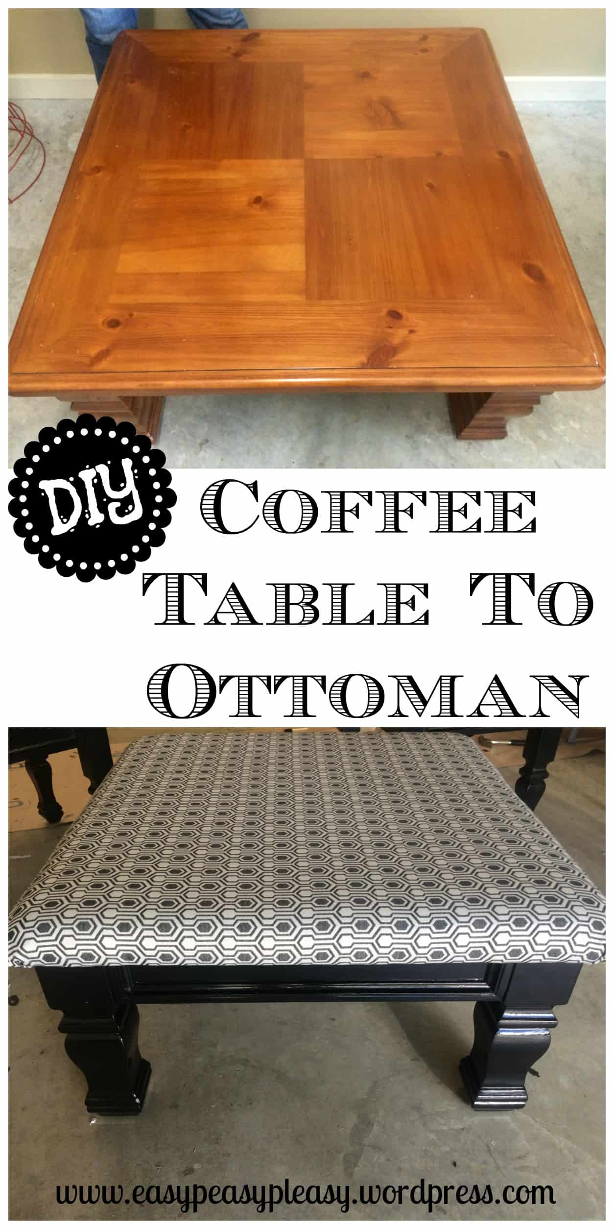 Painted coffee table ottiman without sanding