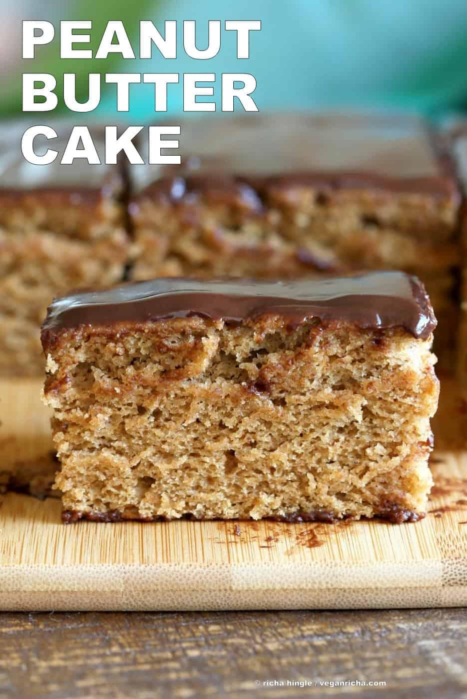 Peanut butter cake with chocolate peanut butter glaze