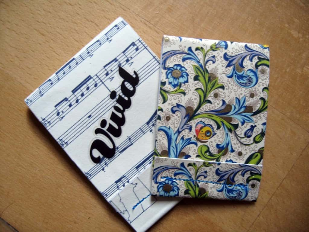 Repurposed matchbook notebook