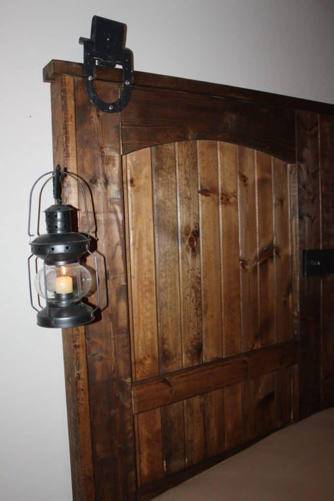 Rustic barn door headboards