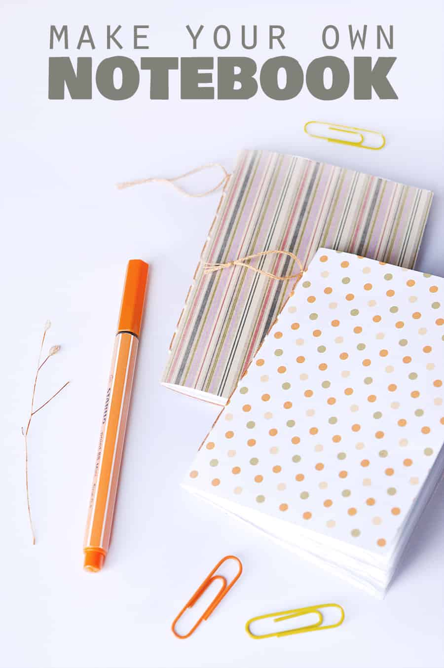 Sewn spine DIY notebooks