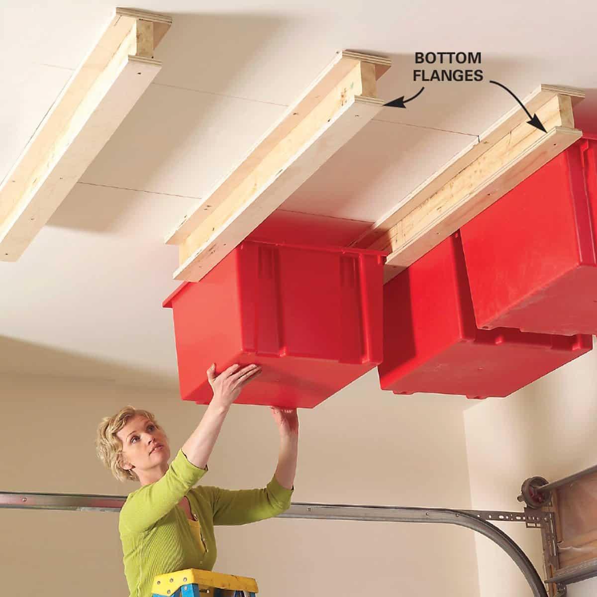 Sliding ceiling storage
