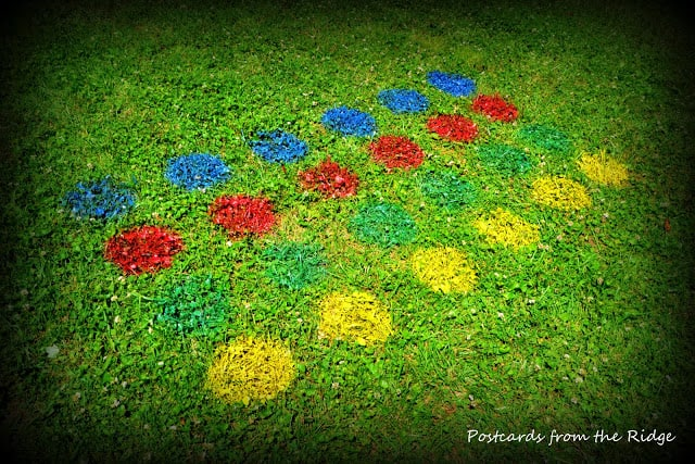 Spray painted lawn Twister