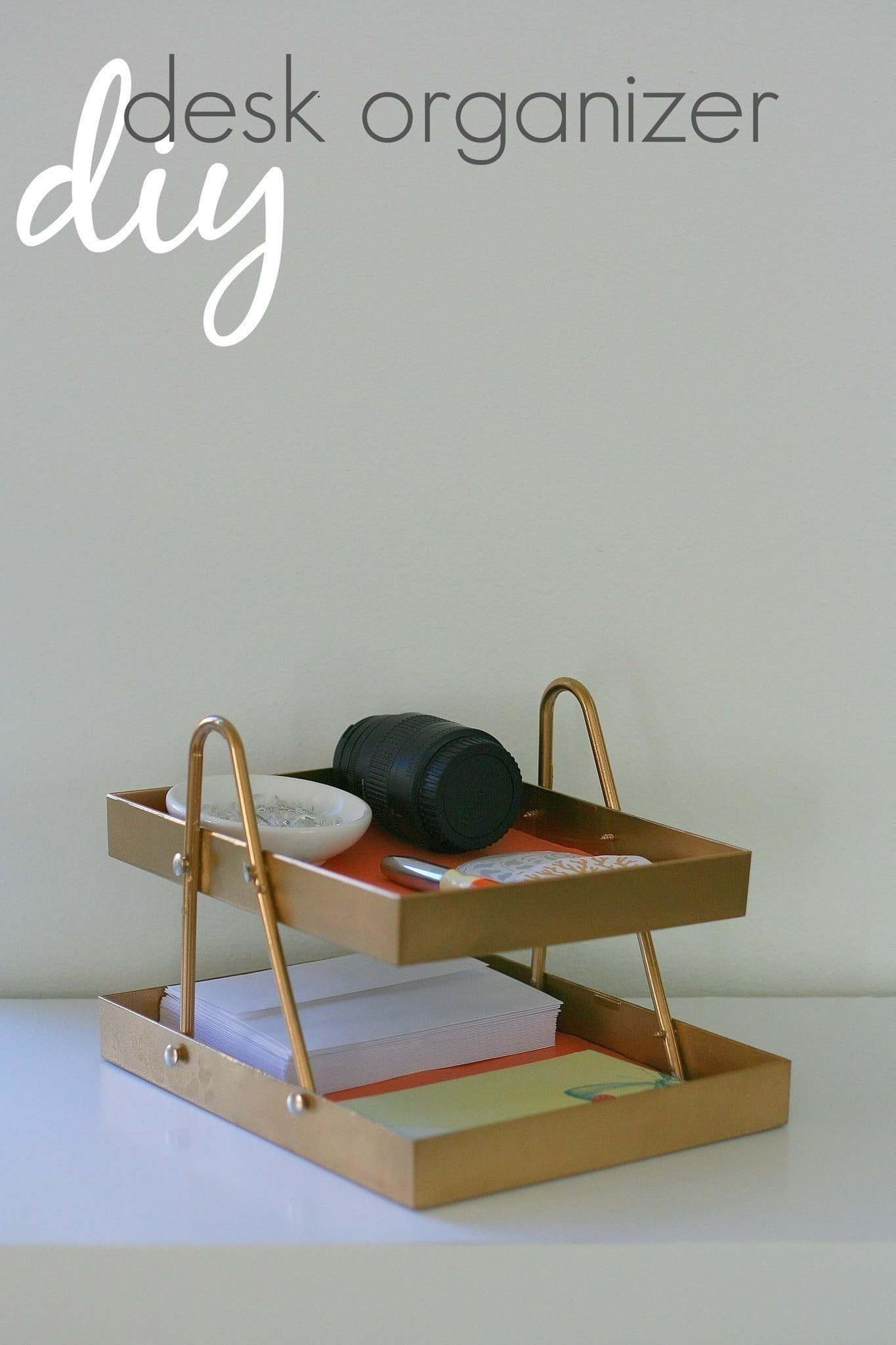 Stacked tray desk organizer