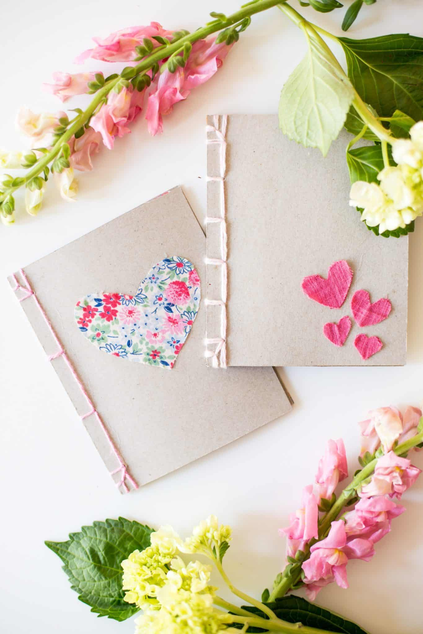 Stitching and fabric notebook