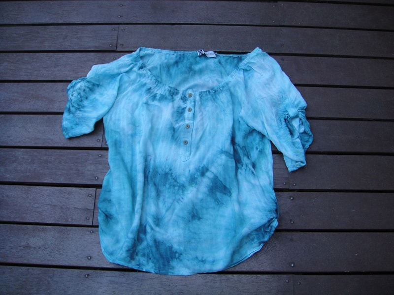 Tie dye a stained shirt
