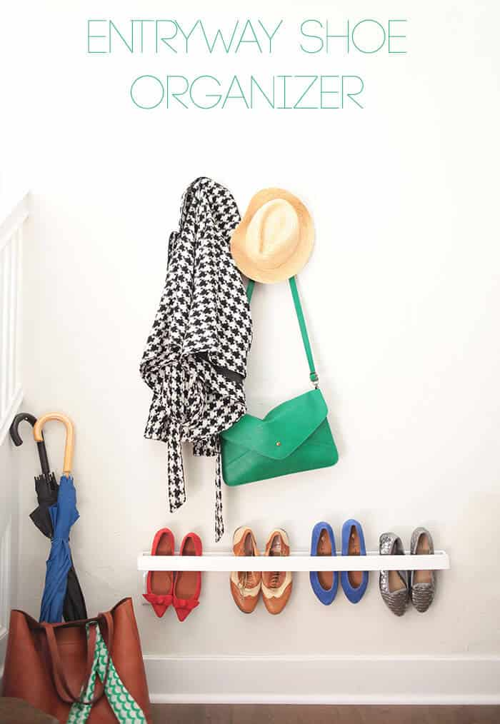 Wall mounted entryway organizer