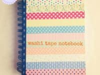 Washi tape embellished notebook 200x150 Jotting Down your Musings in DIY Style: 15 Homemade Notebooks