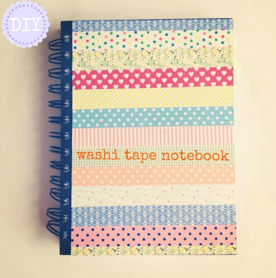 Washi tape embellished notebook