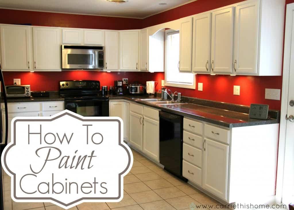 A basic cupboard paint job