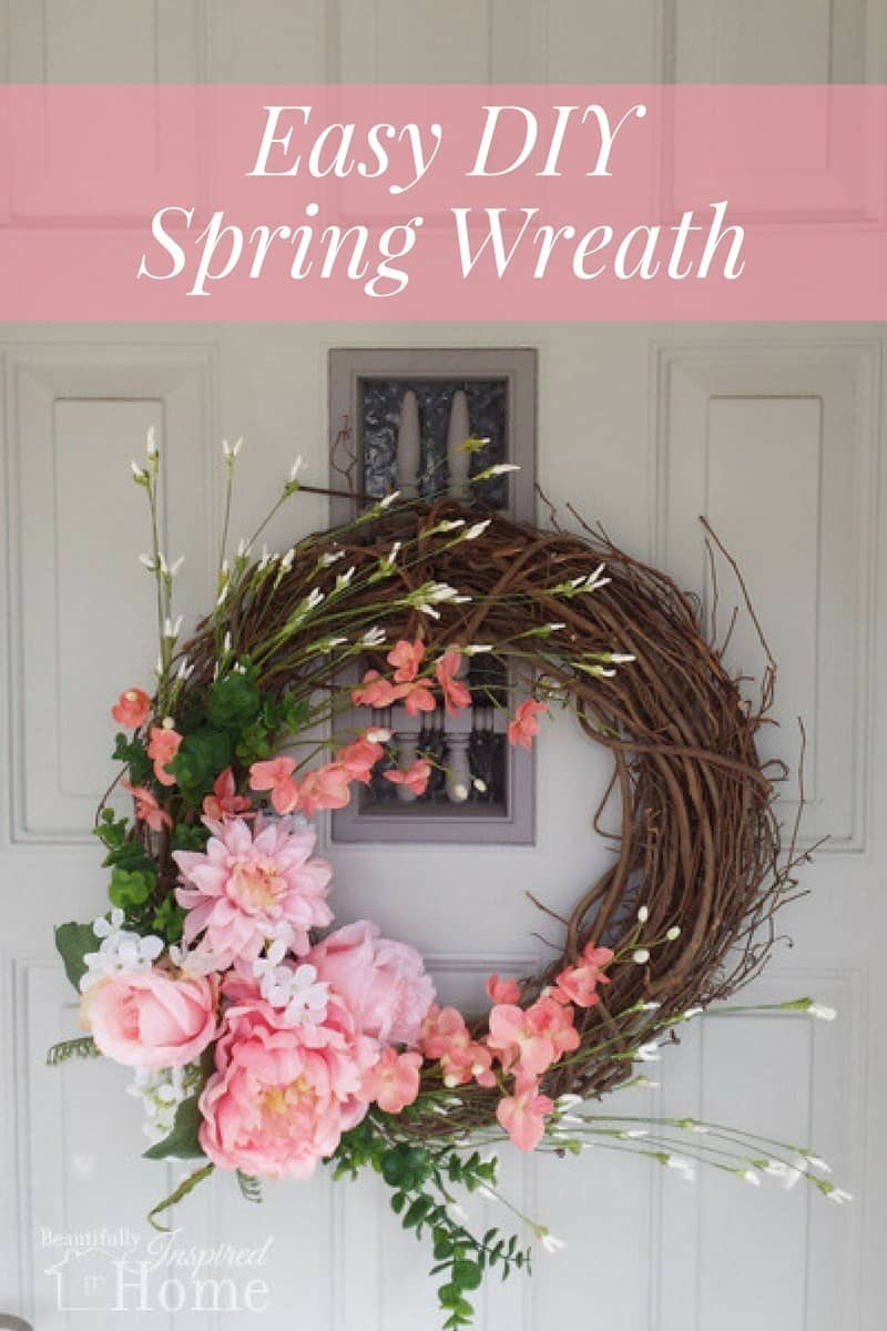 Add a simple wreath for spring