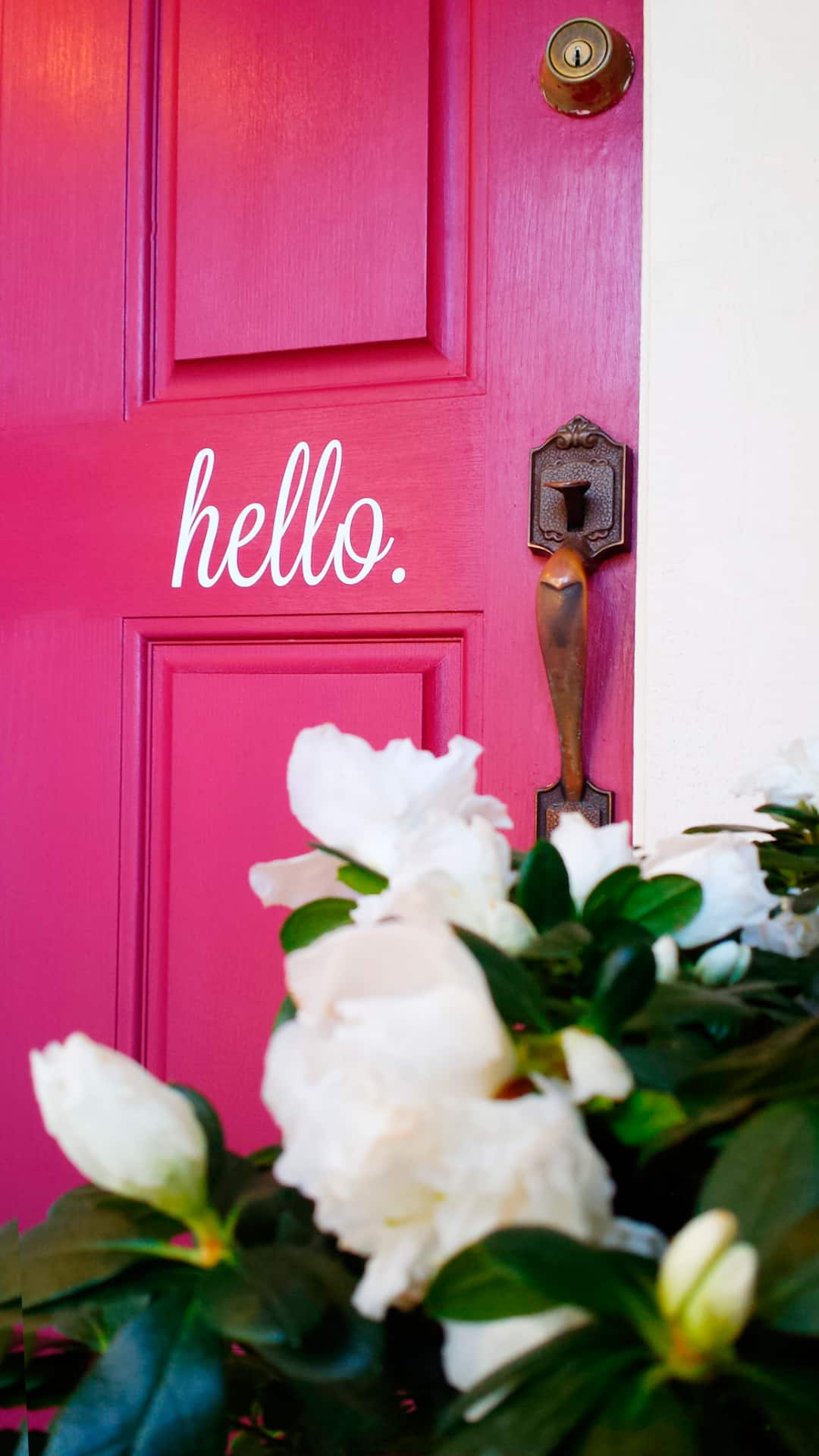 Add cheerful door decals