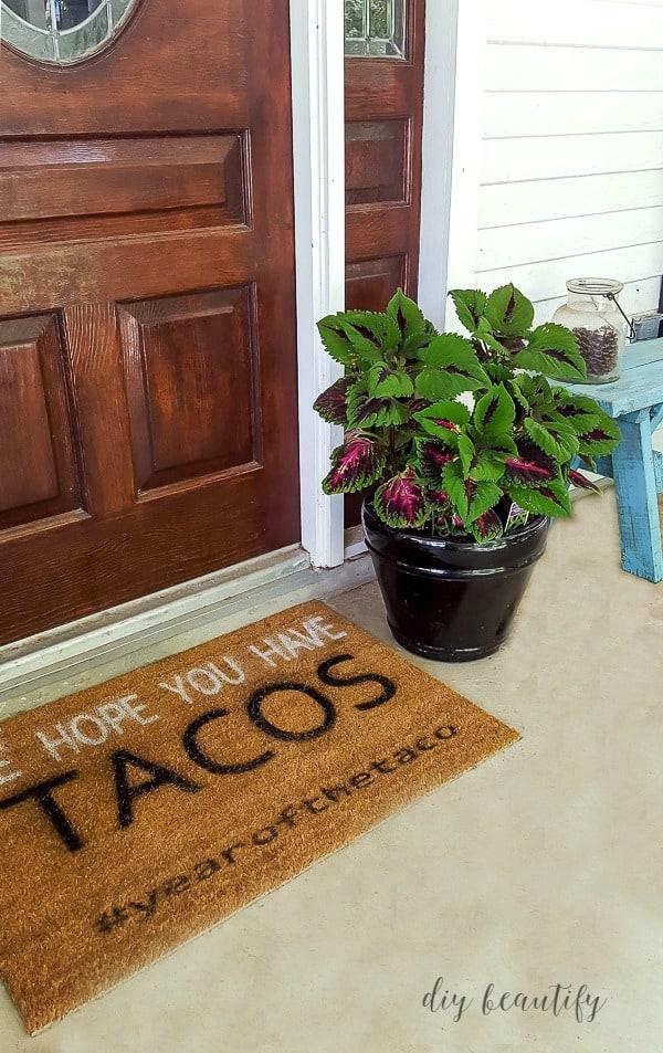Add fun DIY doormats