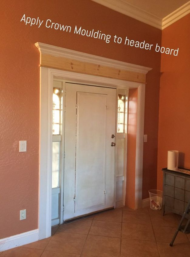 Adding crown molding to your door