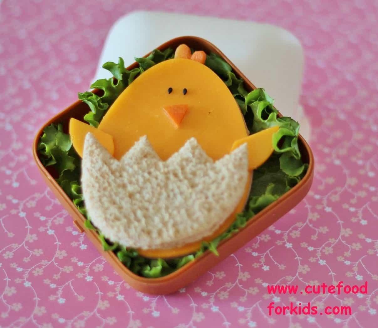Baby chick sandwich