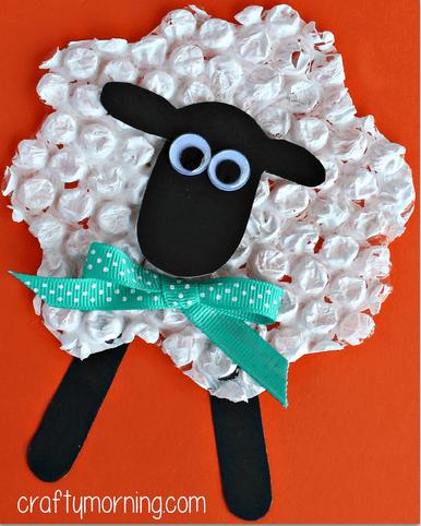 Bubble wrap Easter sheep