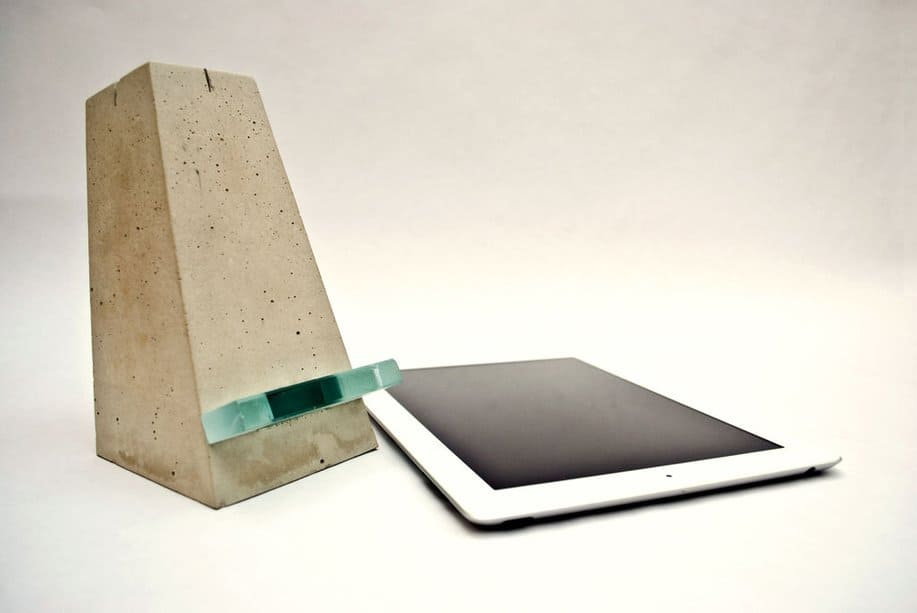 Cement iPad stand