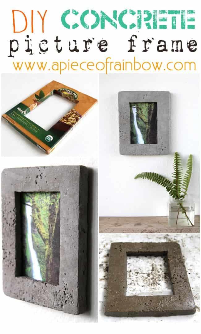 Concrete picture frames