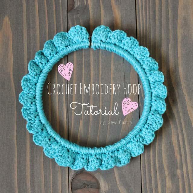 Crochet embroidery hoop tutorial