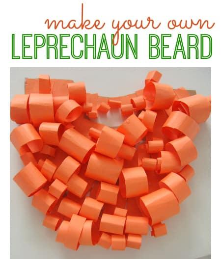 Curled paper leprachaun beard