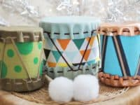 Cute DIY fabric drums 200x150 Hitting the Right Note: 15 Fantastic Homemade Musical Instruments