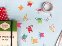 DIY washi tape paper clip flags 200x150 Crafts and Color: 15 Fun Washi Tape Projects to Try Out