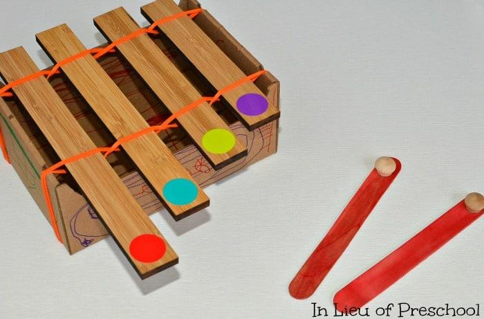 DIY xylophone