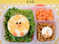 Easter lunch with cheese chicks 200x150 Early, Fun and Festive Treats: 15 Delicious Easter School Lunch Ideas