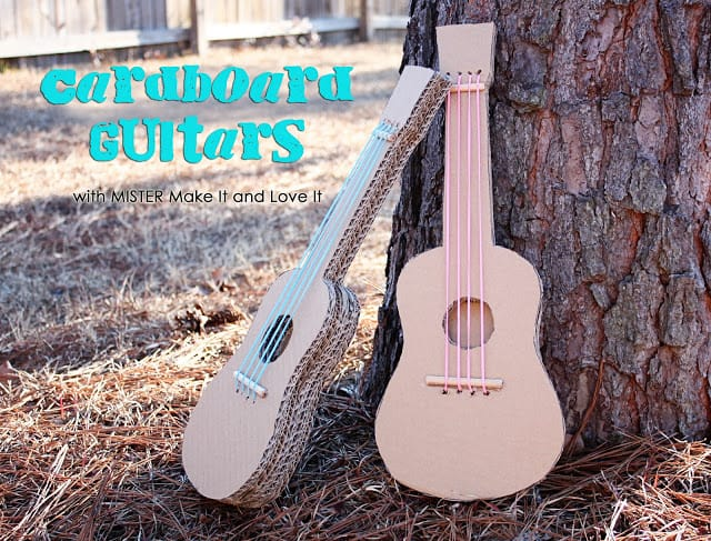 Easy cardboard guitars