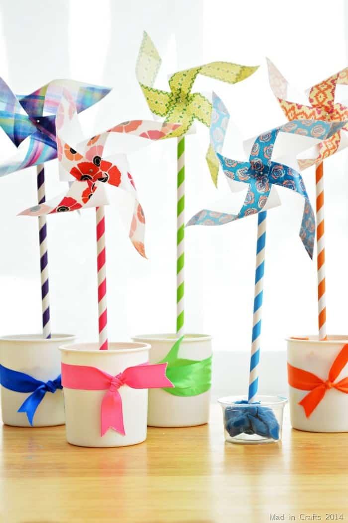 Easy wahi tape pinwheels