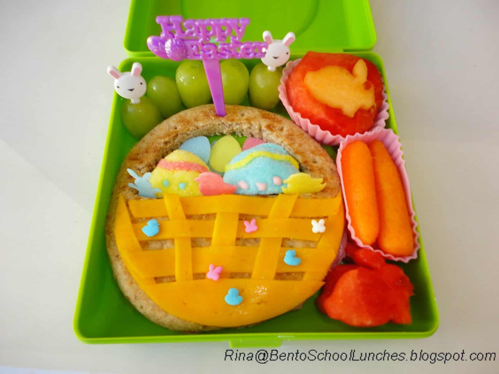 Edible Easter basket lunch