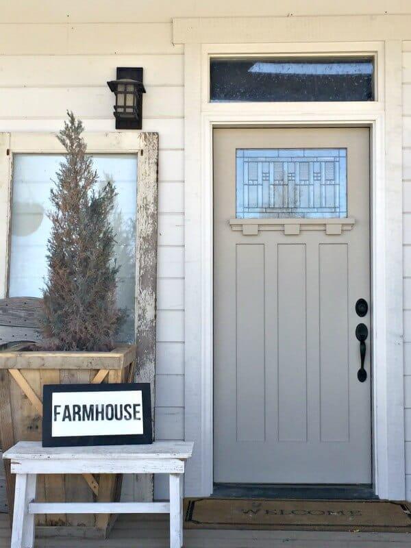 Farmhouse door refresh