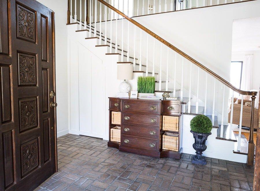 Hidden door closet under the stairs