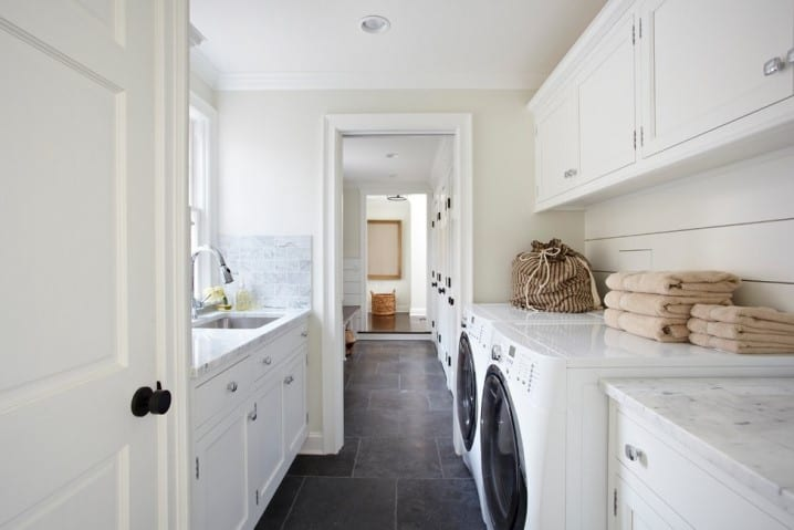 Hide deep sorting bins and pull-out drying racks discreetly in cupboards