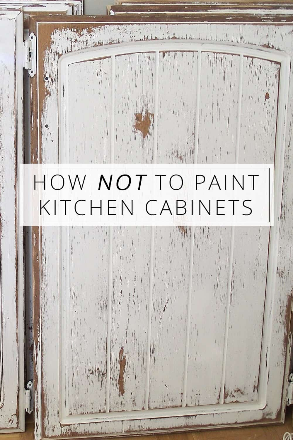 How not to paint your kitchen cupboards