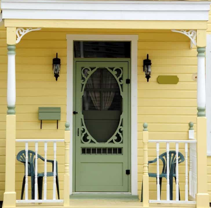 How to add a decorative screen door