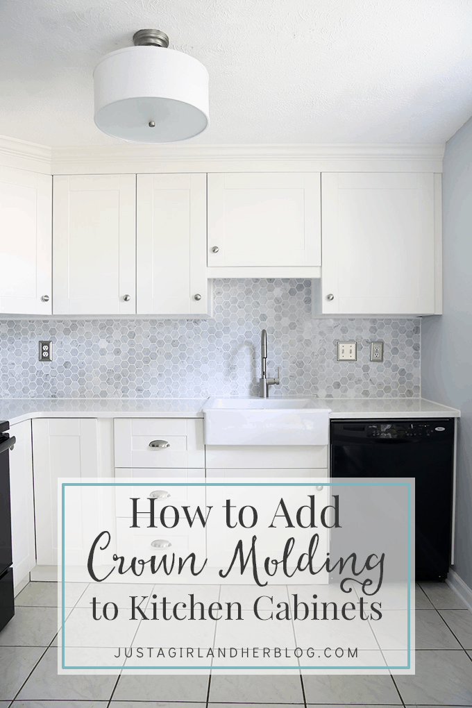 How to add crown molding to kitchen cupboards