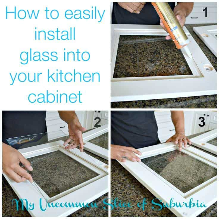 How to add glass inserts to cupboard doors