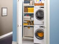How to make a closet laundry room 200x150 Smart Storage: Closet Hacks for More Storage, Even in Small Spaces