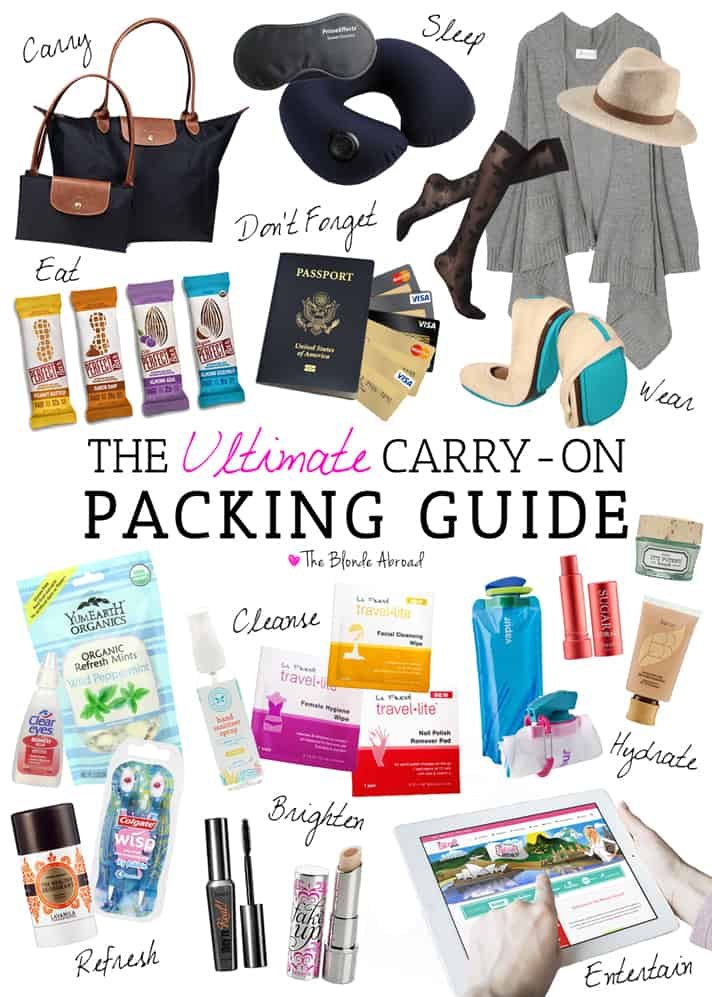 How to perfectly pack a carry-on